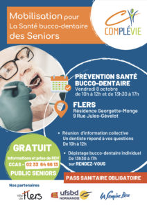 Affiche atelier de sensibilisation à la santé bucco-dentaire des seniors
