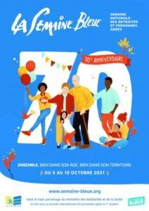 Affiche semaine Bleue 70ième anniversaire